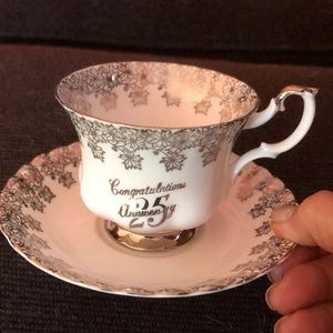 25th Anniversary teacup and saucer